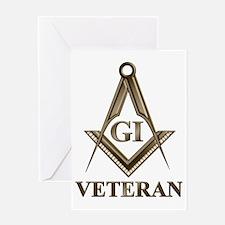 GI Veteran EMBLEM Greeting Card