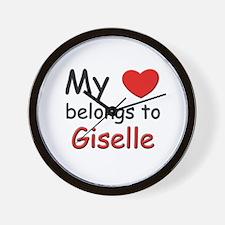 My heart belongs to giselle Wall Clock