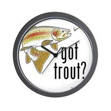 got trout 2 Wall Clock