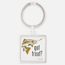 got trout 2 Square Keychain