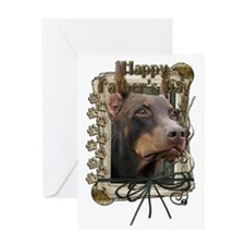 French_Quarters_Doberman_Rocky Greeting Card