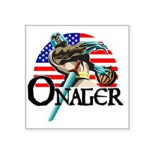 "Onager Team Carbo Square Sticker 3"" x 3"""