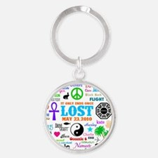 Loves Lost Greet Round Keychain