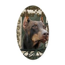 French_Quarters_Doberman Oval Car Magnet