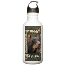 French_Quarters_Doberm Sports Water Bottle