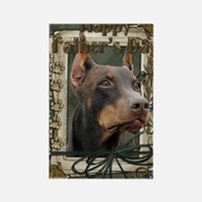 French_Quarters_Doberman Rectangle Magnet