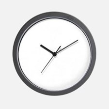 Ends Once -blk Wall Clock