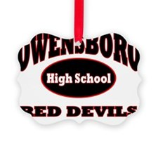 Owensboro HIGH SCHOOL Red Devils Ornament