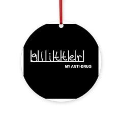 Glitter - My Anti-Drug Ornament (Round)