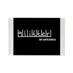 Glitter - My Anti-Drug Rectangle Magnet