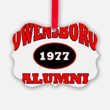 2-Owensboro 1977 Alumni red with  Ornament