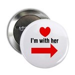 I'm With Her Button