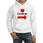 I'm With Her Hooded Sweatshirt