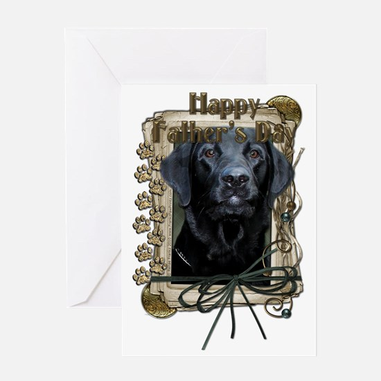 French_Quarters_Black_Labrador_Gage Greeting Card
