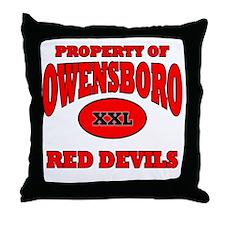 PROPERTY OF Owensboro Red Devils XXL  Throw Pillow