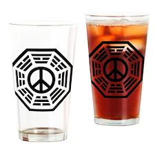 Dharma Peace Tile Drinking Glass