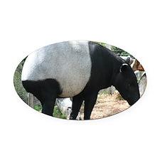 Tapir-MP Oval Car Magnet