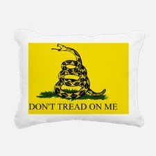 Gadsden Flag - DONT TREA Rectangular Canvas Pillow