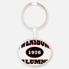 Owensboro 1978 Alumni black with red Oval Keychain