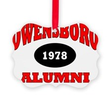 Owensboro 1978 Alumni red with bl Ornament