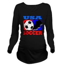 2-usa soccer Long Sleeve Maternity T-Shirt