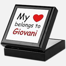 My heart belongs to giovani Keepsake Box