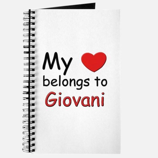 My heart belongs to giovani Journal
