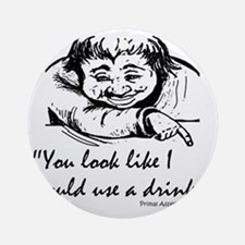 look_like_quote Round Ornament