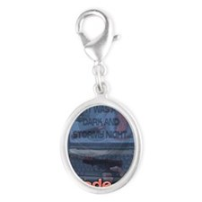 Made up Mayhem Rect Magnet Silver Oval Charm