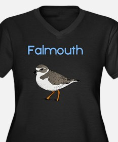 falmouth-plo Women's Plus Size Dark V-Neck T-Shirt
