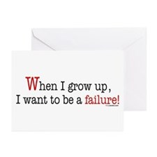 ... a failure Greeting Cards (Pk of 10)