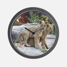 lion cubs-MP Wall Clock