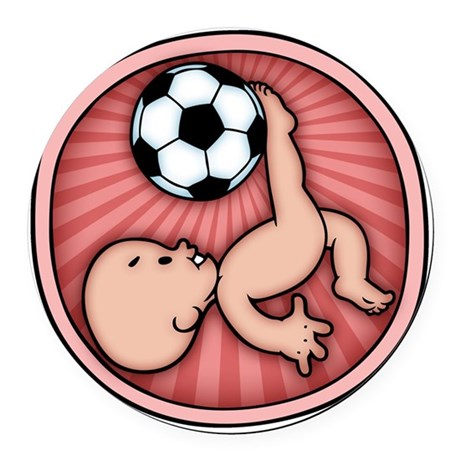 soccer-womb2-T Round Car Magnet