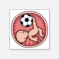 "soccer-womb2-T Square Sticker 3"" x 3"""