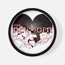 Twilight newborn heart flower by twibab Wall Clock