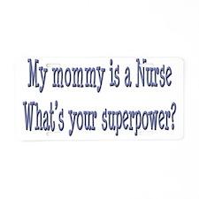 nursemommy_superpower Aluminum License Plate