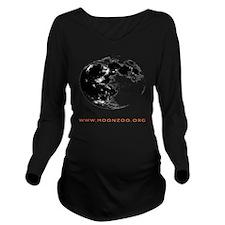 MOONZOO  shirt back  Long Sleeve Maternity T-Shirt