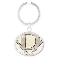 SUP_VIN_D Oval Keychain