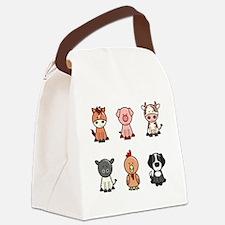 farm animal set Canvas Lunch Bag