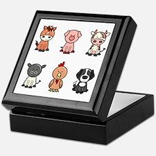 farm animal set Keepsake Box