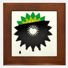 boycott bp tshirt  Framed Tile