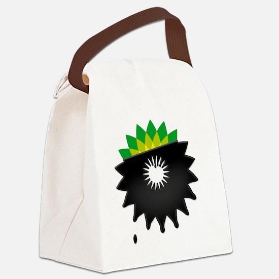 boycott bp tshirt  Canvas Lunch Bag