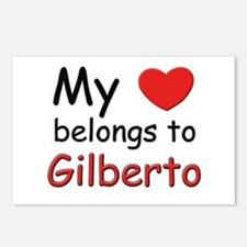 My heart belongs to gilberto Postcards (Package of