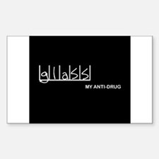 Glass - My Anti-Drug Rectangle Decal