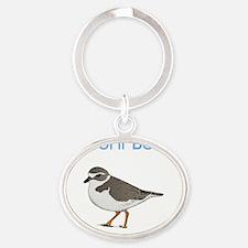 marconi-beach Oval Keychain