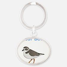 nauset-beach-plover Oval Keychain