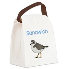 sandwich-plover Canvas Lunch Bag