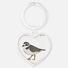 provincetown-plover Heart Keychain