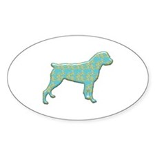 Paisley Rottweiler Oval Decal