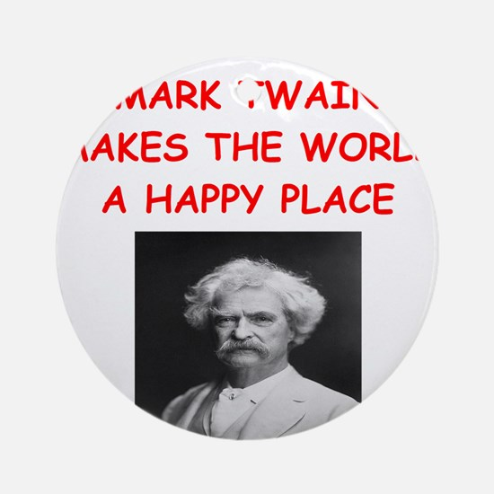 MARKTWAIN.png Ornament (Round)